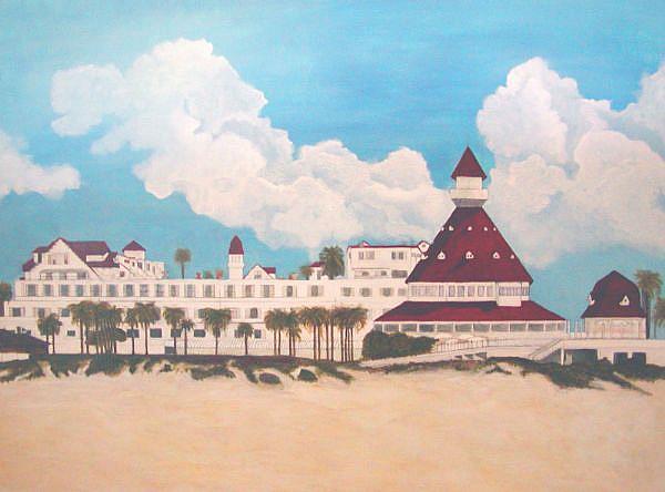 Art: Hotel Del Coronado by Artist Victor McGhee