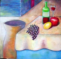 Art: Still Life with Grapes by Artist Victor McGhee