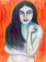 Art: Self Control - After Kelli Dubay's Retenue by Artist Victor McGhee
