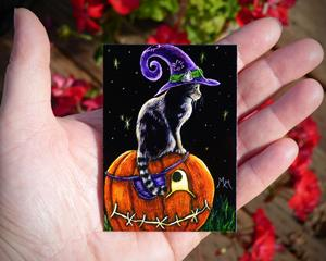 Detail Image for art Waiting for Trick or Treats  (SOLD)