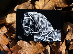 Detail Image for art Carriage Horse  (SOLD)