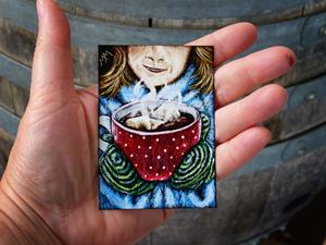 Detail Image for art A Warm Winter Drink  (SOLD)
