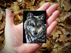 Detail Image for art Lone Wolf  (SOLD)