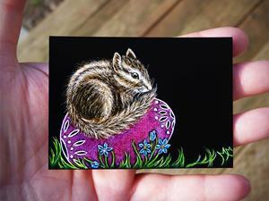 Detail Image for art Easter Chipmunk  (SOLD)