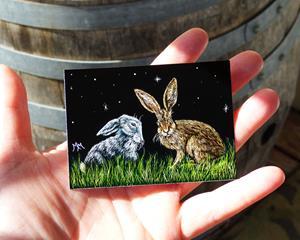 Detail Image for art Splitting Hares  (SOLD)
