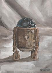 Art: Action Figure Series I: R2-D2 by Artist Aimee L. Dingman