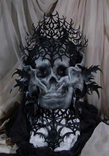 Art: Lady of the Catacombs by Artist Barbara Doherty (MidnightZodiac Leather)