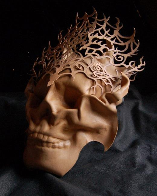 Art: Lady of the Catacombs-unpainted by Artist Barbara Doherty (MidnightZodiac Leather)