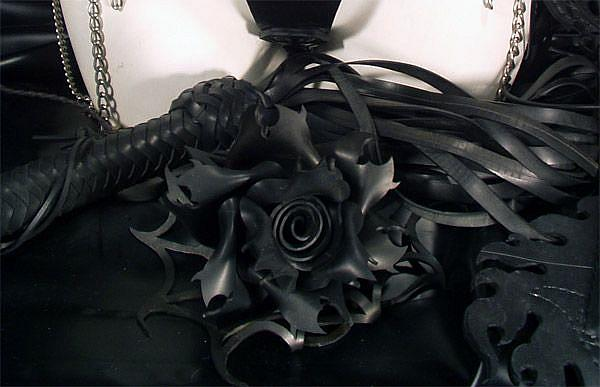 Art: Scarab Rose and Flogger by Artist Barbara Doherty (MidnightZodiac Leather)