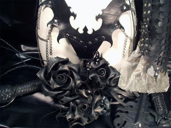 Art: Roses and Disciplinary Devices by Artist Barbara Doherty (MidnightZodiac Leather)