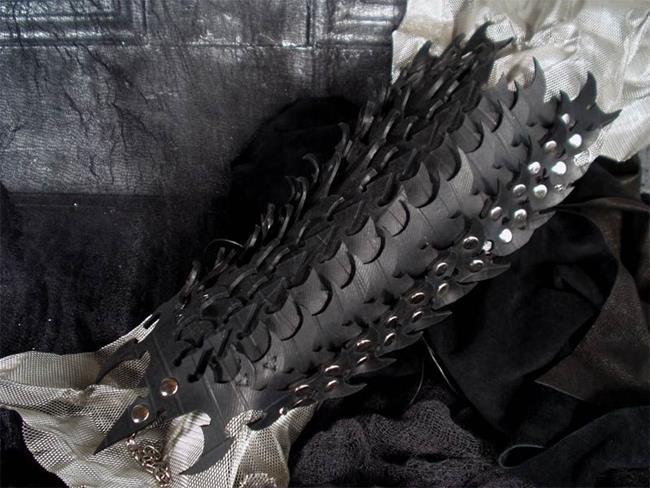 Art: Trilobite Arm Piece (side) by Artist Barbara Doherty (MidnightZodiac Leather)