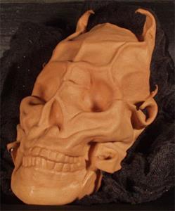 Detail Image for art Horned Leather Skull