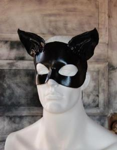 Detail Image for art Leather cat mask - Annabel