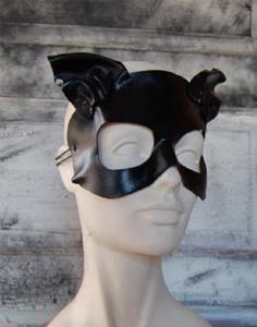 Detail Image for art Leather cat mask - Midnight Dreary