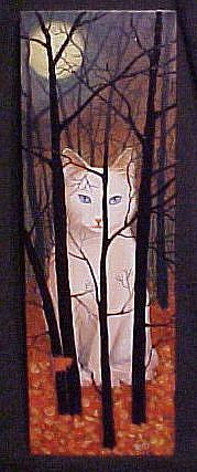 Art: Cat's Moon by Artist Rosemary Margaret Daunis