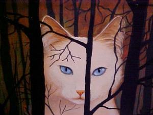 Detail Image for art Cat's Moon