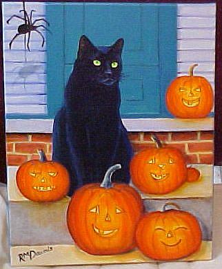 Art: Waiting For A Treat by Artist Rosemary Margaret Daunis