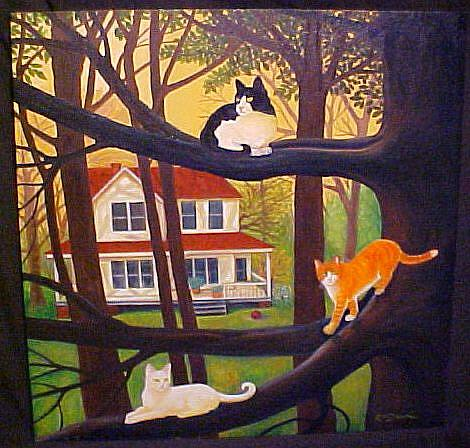 Art: COUNTRY CATS by Artist Rosemary Margaret Daunis