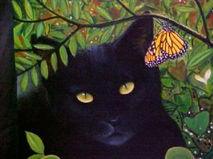 Detail Image for art BLACKIE AND THE BUTTERFLY