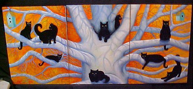 Art: CAT TREE III by Artist Rosemary Margaret Daunis