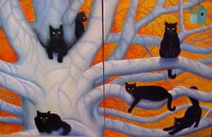 Detail Image for art CAT TREE III