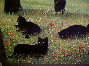 Detail Image for art COUNTRY CATS II