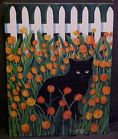Art: IN THE TULIP GARDEN, AGAIN by Artist Rosemary Margaret Daunis