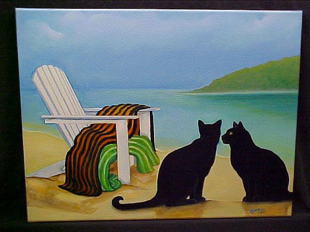 Art: BEACH LOVERS by Artist Rosemary Margaret Daunis