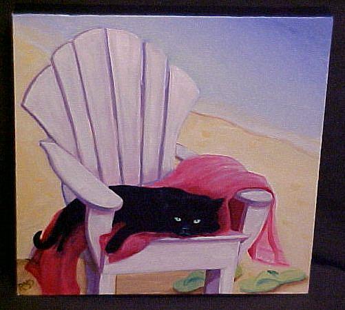 Art: BEACH BUM by Artist Rosemary Margaret Daunis