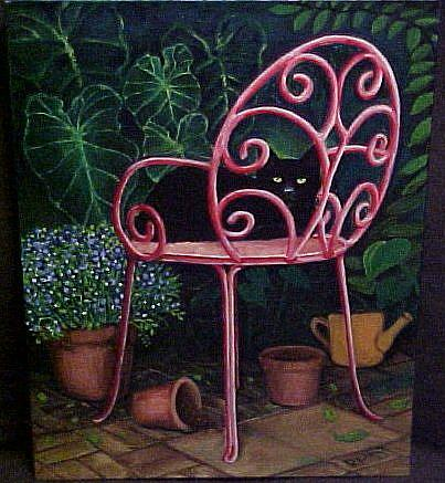 Art: A  COZY PLACE by Artist Rosemary Margaret Daunis
