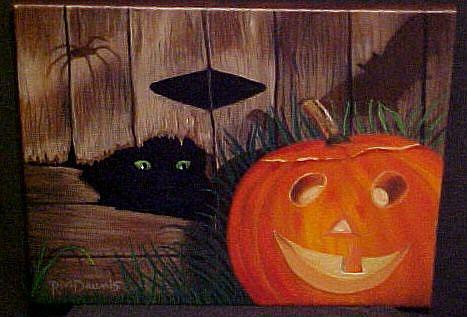 Art: HAPPY PUMPKIN by Artist Rosemary Margaret Daunis