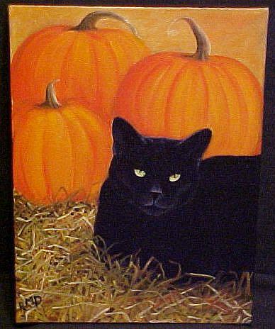Art: OCTOBER'S CAT by Artist Rosemary Margaret Daunis