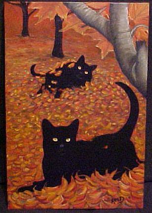 Art: OCTOBER FUN by Artist Rosemary Margaret Daunis