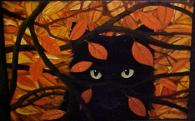 Art: FOREST CAT #2 by Artist Rosemary Margaret Daunis