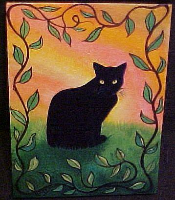 Art: BLACKIE AND THE BEANSTALK by Artist Rosemary Margaret Daunis