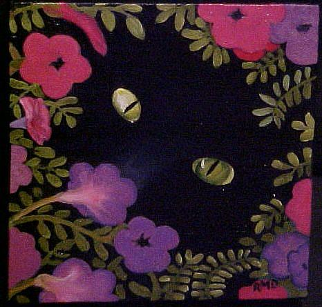 Art: IN THE PETUNIA PATCH by Artist Rosemary Margaret Daunis