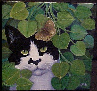 Art: ZORRO & BUTTERFLY by Artist Rosemary Margaret Daunis