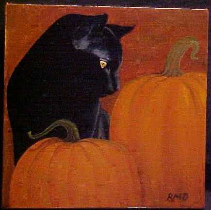 Art: PUMPKIN FEST by Artist Rosemary Margaret Daunis