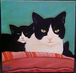 Art: MOMMA CAT by Artist Rosemary Margaret Daunis