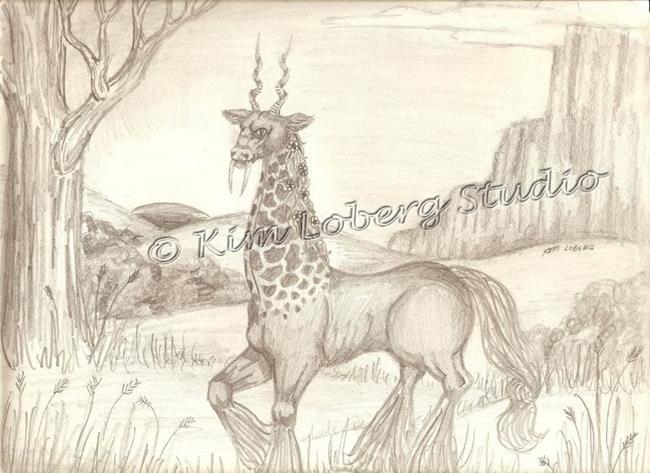 Art: Giraffe Horse by Artist Kim Loberg