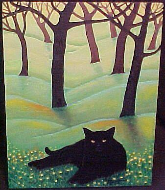 Art: CATNAPPING by Artist Rosemary Margaret Daunis