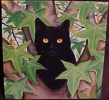 Art: TREE CAT by Artist Rosemary Margaret Daunis