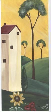 Art: Tuscan House I-SOLD by Artist Charlene Murray Zatloukal