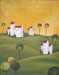 Art: Tuscany Villa III- SOLD by Artist Charlene Murray Zatloukal