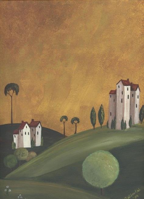 Art: I Tuscan Landscape- SOLD by Artist Charlene Murray Zatloukal