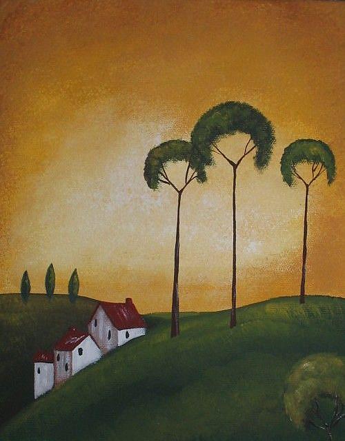 Art: Tuscany Hillside Villa I by Artist Charlene Murray Zatloukal