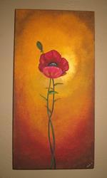 Art: Tuscan Poppy by Artist Charlene Murray Zatloukal