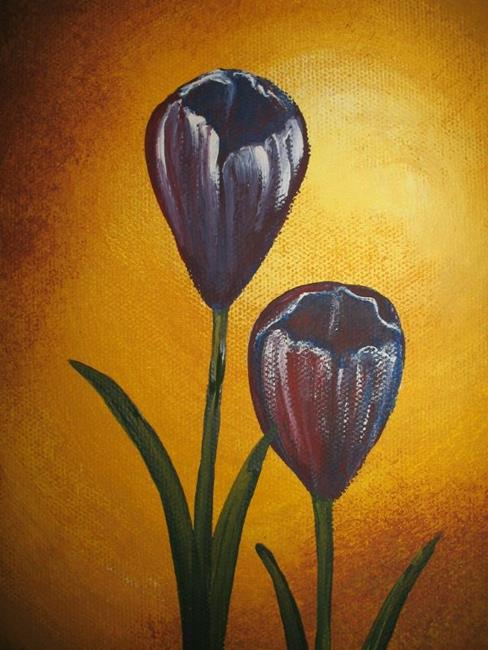 Art: Crocus by Artist Charlene Murray Zatloukal