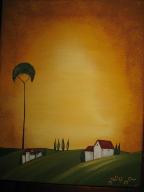 Art: Villa del Pelago by Artist Charlene Murray Zatloukal