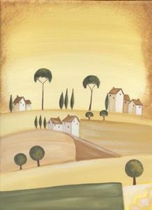 Detail Image for art Tuscan Villas on Golden Hills II